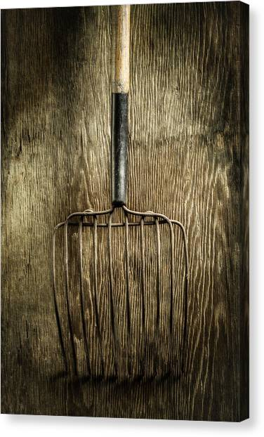 Contractors Canvas Print - Tools On Wood 25 by Yo Pedro