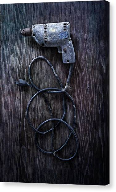 Contractors Canvas Print - Tools On Wood 27 by Yo Pedro