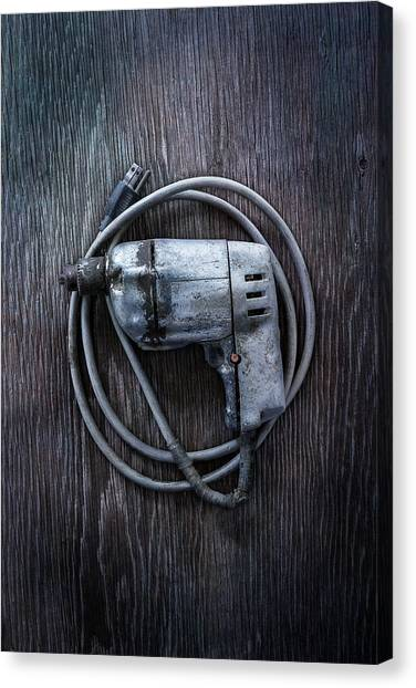 Contractors Canvas Print - Tools On Wood 30 by YoPedro