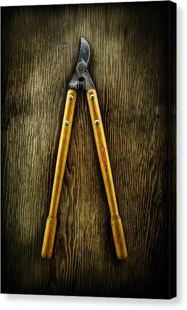 Contractors Canvas Print - Tools On Wood 34 by YoPedro