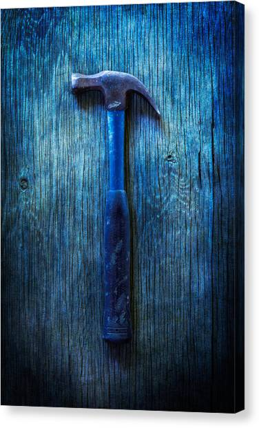 Contractors Canvas Print - Tools On Wood 36 by YoPedro