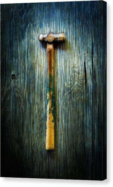 Contractors Canvas Print - Tools On Wood 38 by YoPedro