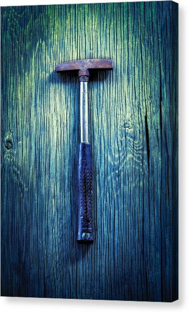 Contractors Canvas Print - Tools On Wood 39 by YoPedro