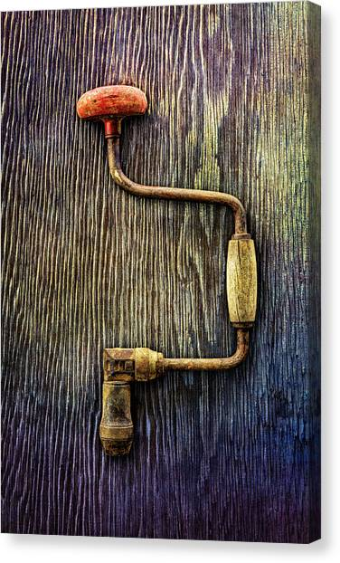 Braces Canvas Print - Tools On Wood 58 by YoPedro