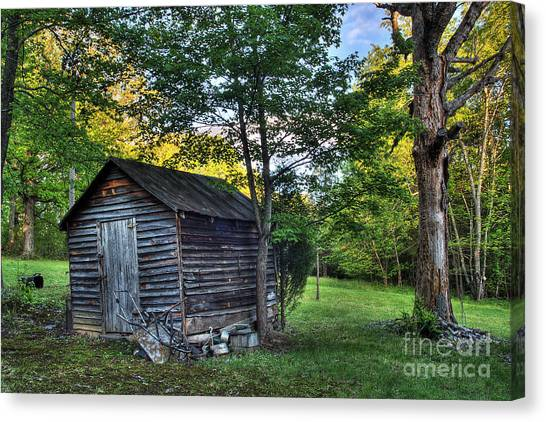 Toolshed Canvas Print by Pete Hellmann