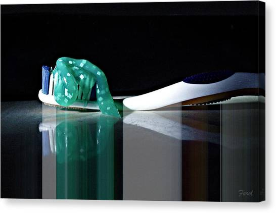 Toothbrush Canvas Print