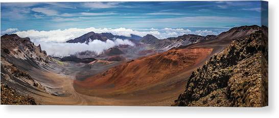Top Of Haleakala Crater Canvas Print