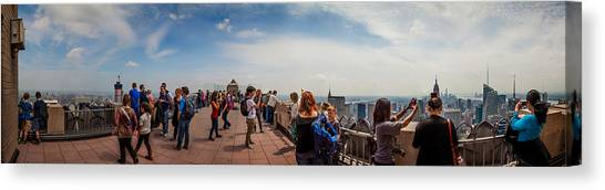 Degrees Canvas Print - Top Of The Rock Experience by Az Jackson