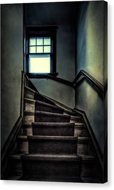 Indoors Canvas Print - Top Of The Stairs by Scott Norris