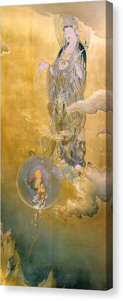 Mercy Canvas Print - Top Quality Art -  Mercy Kannon by Kano Hogai