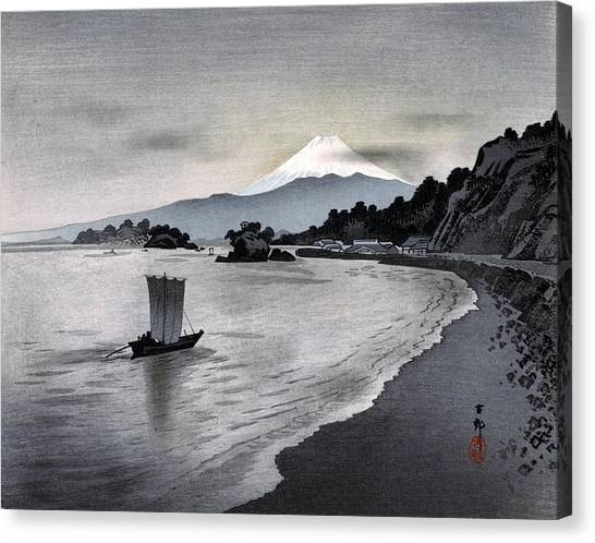 Mount Fuji Canvas Print - Top Quality Art - Nishiizu Yacht by Ohara Koson