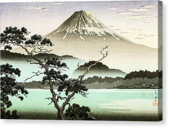 Mount Fuji Canvas Print - Top Quality Art - Sai Lake Sunset by Tsuchiya Koitsu