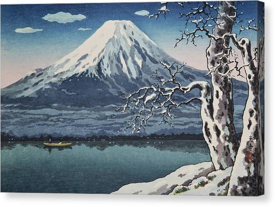 Mount Fuji Canvas Print - Top Quality Art - Yamanaka Lake by Tsuchiya Koitsu