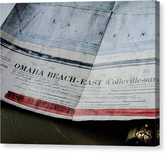 Top Secret - Omaha Beach Canvas Print