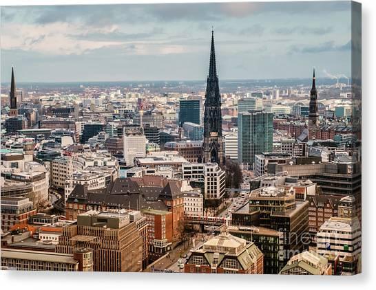 Top View Of Hamburg Canvas Print