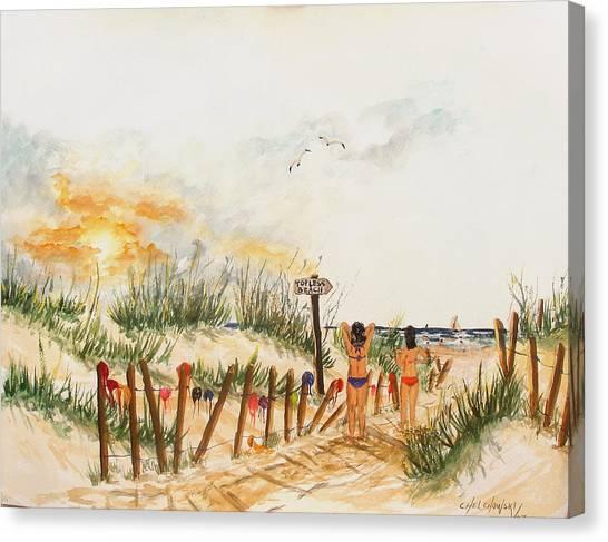 Topless Beach Canvas Print