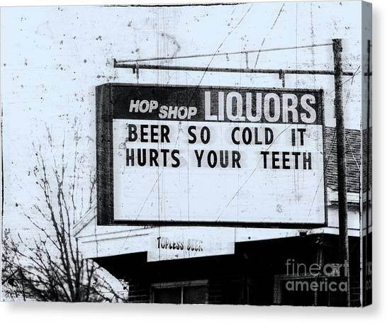 Topless Beer  Canvas Print by Steven Digman