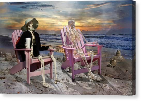 Adirondack Chair Canvas Print - Topsail Tales by Betsy Knapp