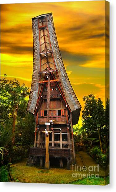 Canvas Print - Toraja Architecture by Charuhas Images