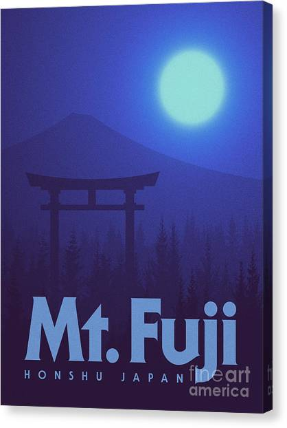 Gates Canvas Print - Torii Gate Japan - Blue by Ivan Krpan