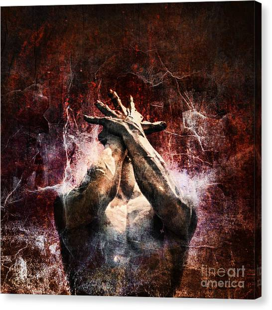 Nerves Canvas Print - Torment by Andrew Paranavitana