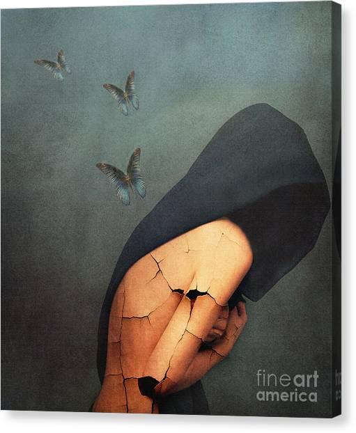 Woman Art Canvas Print - Torment by Jacky Gerritsen