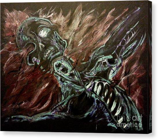Tormented Soul Canvas Print