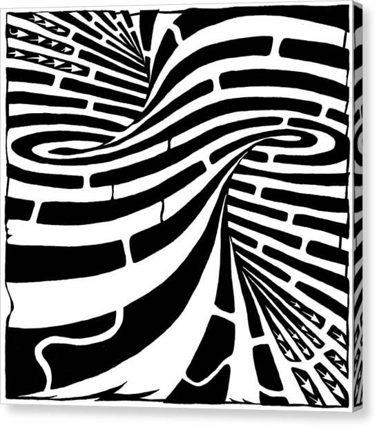 Tornado Maze Canvas Print by Yonatan Frimer Maze Artist