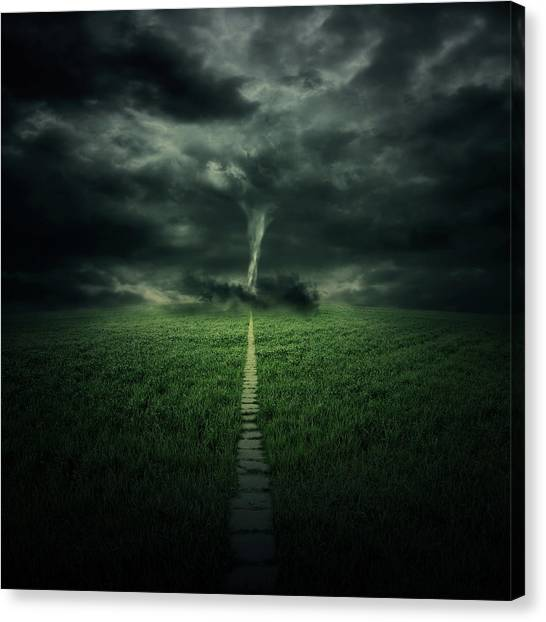 Tornadoes Canvas Print - Tornado by Zoltan Toth
