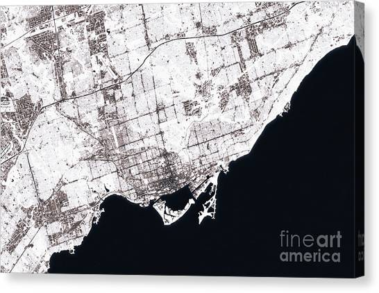 Ontario map canvas prints page 5 of 6 fine art america ontario map canvas print toronto abstract city map black and white by frank ramspott gumiabroncs Choice Image