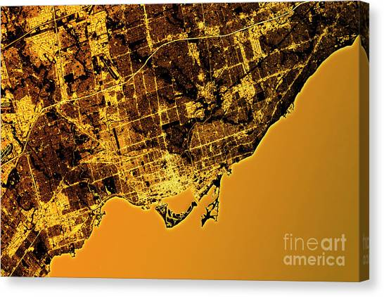 Ontario map canvas prints page 5 of 6 fine art america ontario map canvas print toronto abstract city map golden by frank ramspott gumiabroncs Choice Image