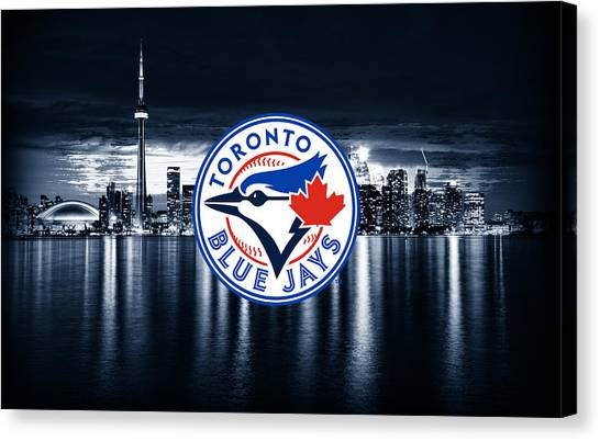 Toronto Blue Jays Canvas Print - Toronto Blue Jays City by Nicholas Legault
