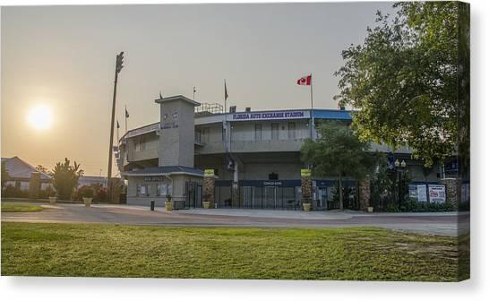Toronto Blue Jays Canvas Print - Toronto Blue Jays - Florida Auto Exchange Stadium by Bill Cannon