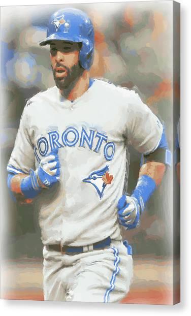 Toronto Blue Jays Canvas Print - Toronto Blue Jays Jose Bautista by Joe Hamilton
