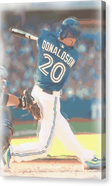 Toronto Blue Jays Canvas Print - Toronto Blue Jays Josh Donaldson 2 by Joe Hamilton