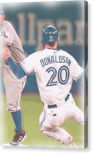 Toronto Blue Jays Canvas Print - Toronto Blue Jays Josh Donaldson 3 by Joe Hamilton