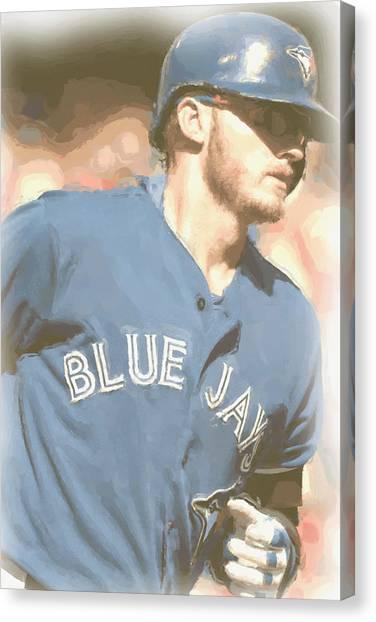 Toronto Blue Jays Canvas Print - Toronto Blue Jays Josh Donaldson 4 by Joe Hamilton