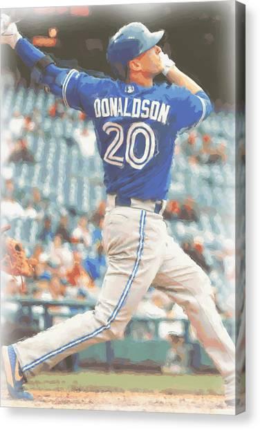 Toronto Blue Jays Canvas Print - Toronto Blue Jays Josh Donaldson by Joe Hamilton