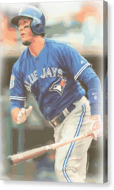 Toronto Blue Jays Canvas Print - Toronto Blue Jays Troy Tulowitzki by Joe Hamilton