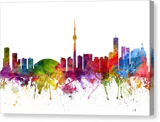 Toronto Skyline Canvas Print - Toronto Canada Cityscape 06 by Aged Pixel
