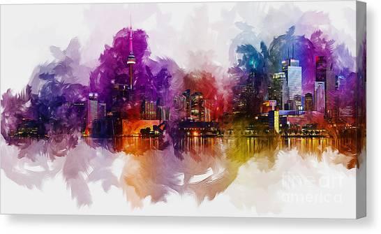 Toronto Skyline Canvas Print - Toronto Canada Skyline by Ian Mitchell