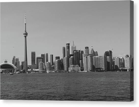 Toronto Cistyscape Bw Canvas Print