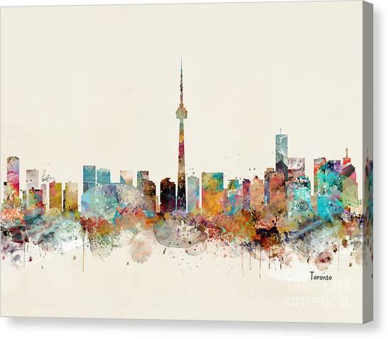 Toronto Skyline Canvas Print - Toronto City Skyline by Bri Buckley