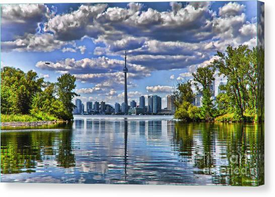 Toronto City View Canvas Print by Elaine Manley