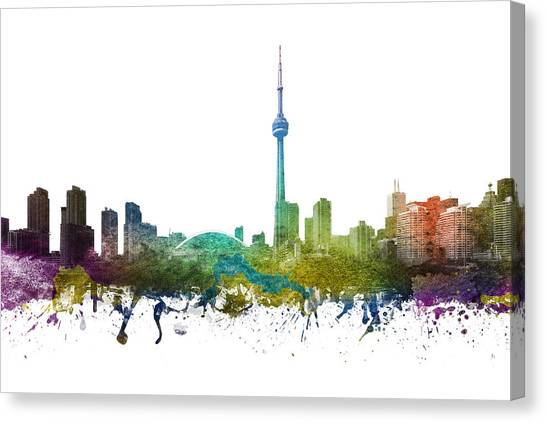Toronto Skyline Canvas Print - Toronto Cityscape 01 by Aged Pixel
