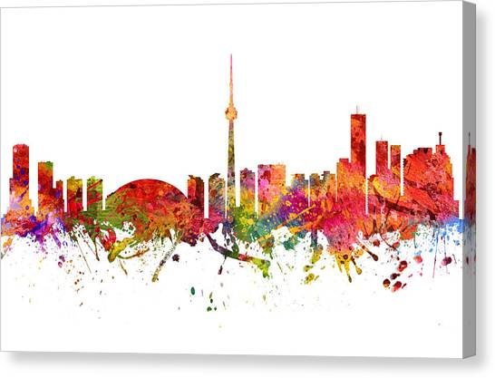 Toronto Skyline Canvas Print - Toronto Cityscape 08 by Aged Pixel