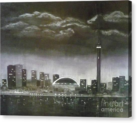 Toronto Cn Tower Skyline Canvas Print