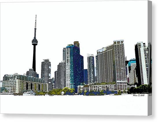 Toronto Fc Canvas Print - Toronto Harbourfront Skyline by Nina Silver
