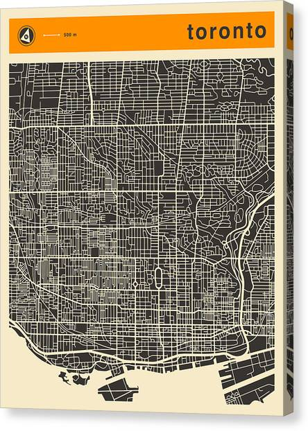 Ontario Canvas Print - Toronto Map by Jazzberry Blue