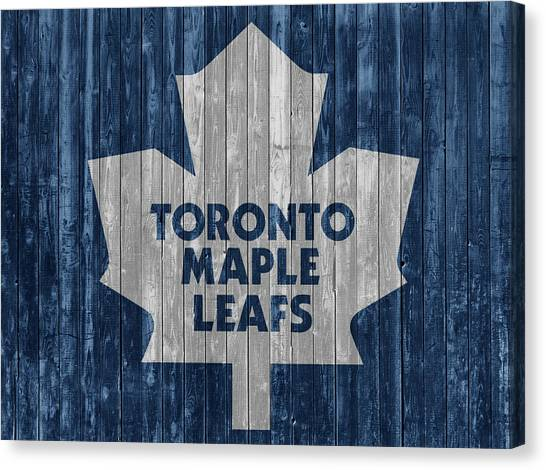 Toronto Maple Leafs Canvas Print - Toronto Maple Leafs Barn Door by Dan Sproul